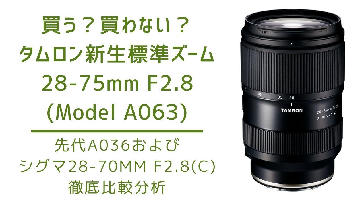 タムロン 28-75mm F/2.8 Di III VXD G2(Model A063) A036 シグマ28-70mm F2.8 Contemporary 比較